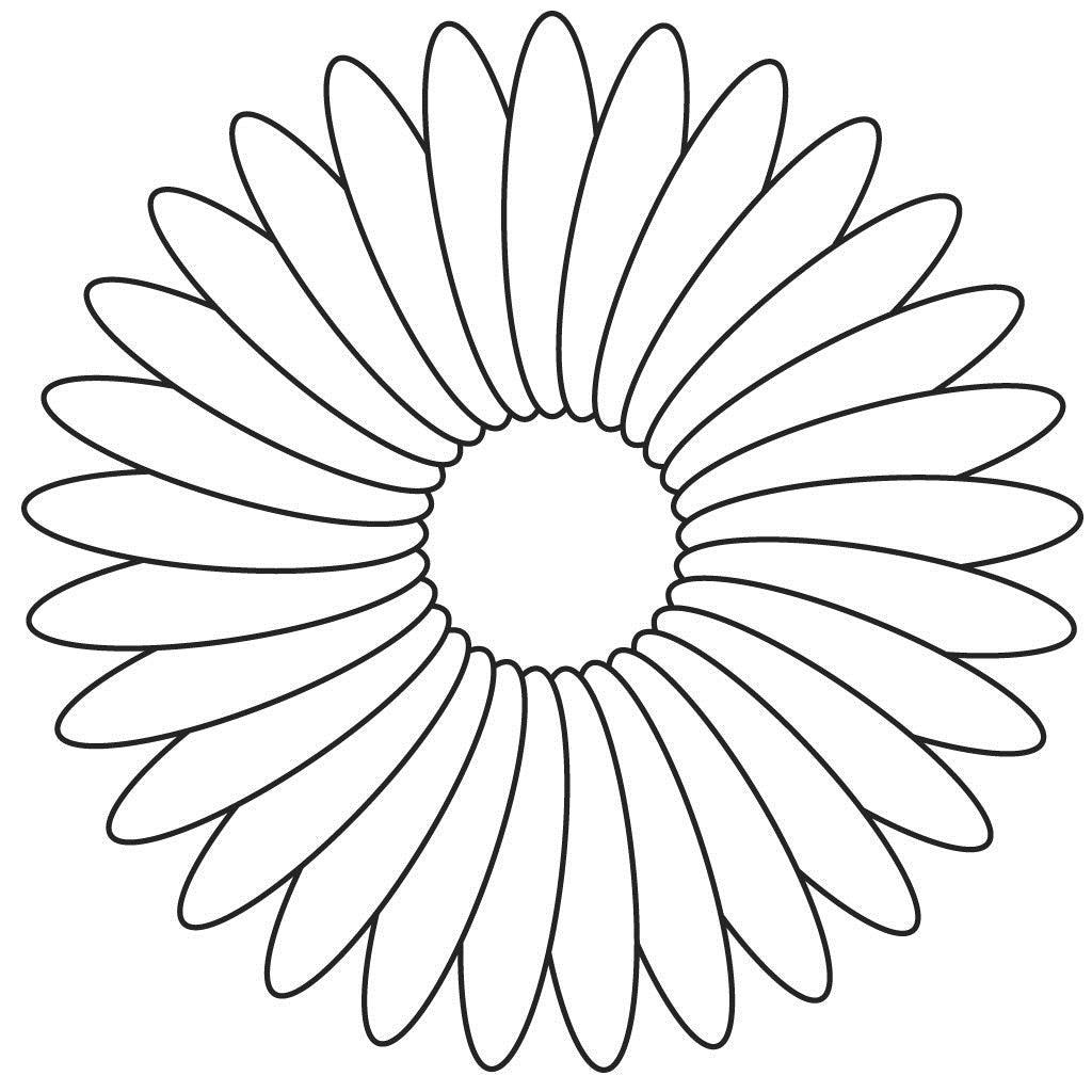 Цветок с 5 лепестками раскраска