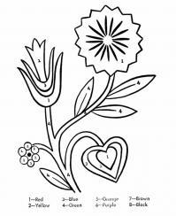 Раскрась по цветам Скачать новые раскраски цветы