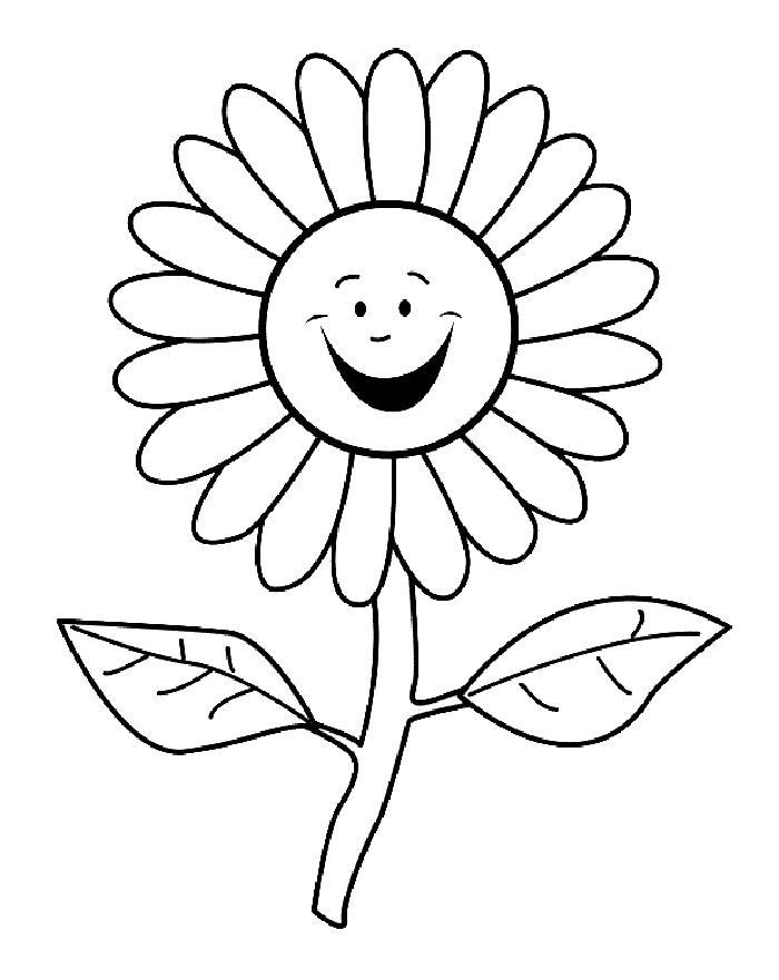 Цветы раскраска для детей - 5