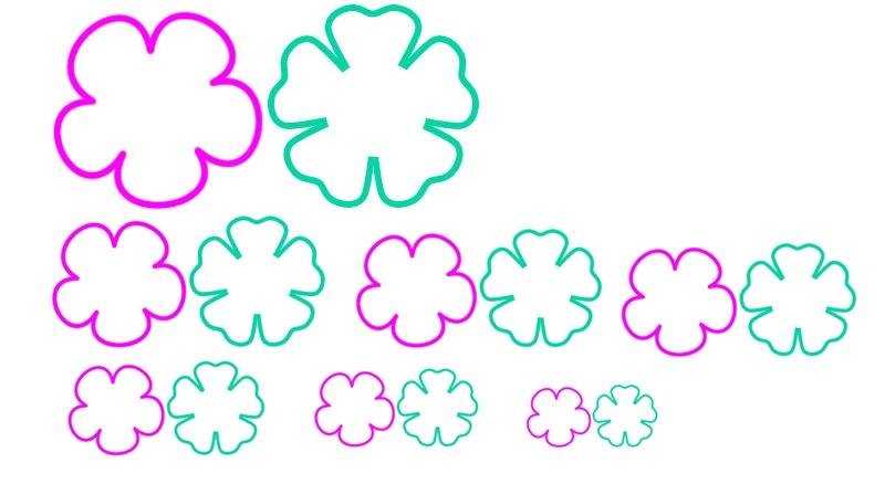 Маленькие цветы из бумаги своими руками