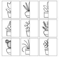 Раскраски дорисуй комнатные растения Раскраски с цветами распечатать бесплатно