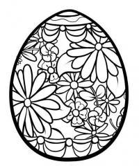 Цветочный узор Раскраски с цветами распечатать бесплатно