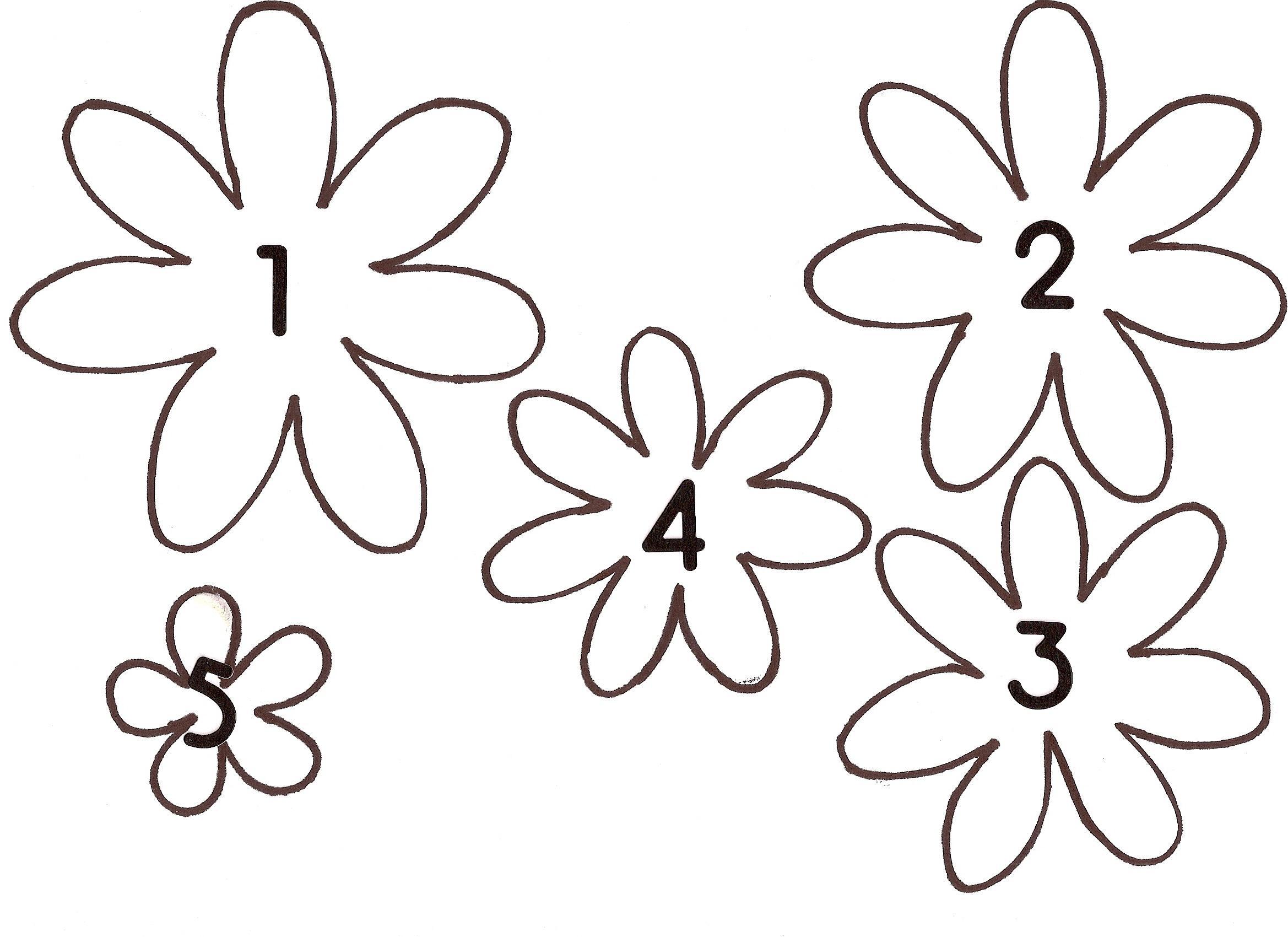 Шаблоны из бумаги цветок ромашка для аппликаций иподелок Раскраски с цветами распечатать бесплатно