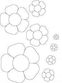 Раскраски цветы шаблоны для вырезания шаблон цветов Раскраски с цветами распечатать бесплатно
