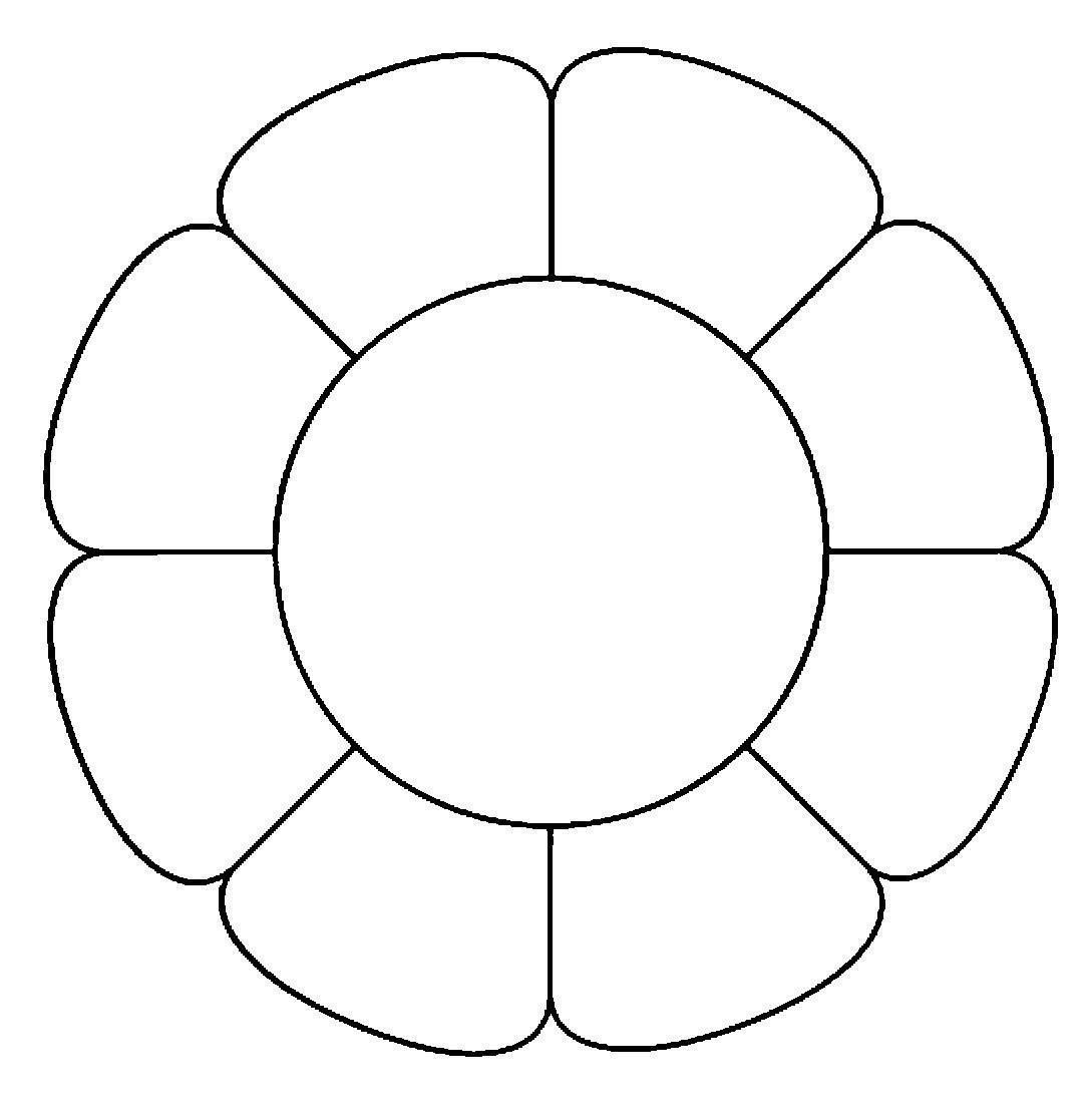 Трафарет тюльпана для вырезания из бумаги шаблон скачать