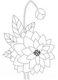 Георгин Разукрашки цветы