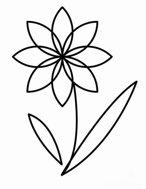 Для детского сада шаблон цветов для аппликации Раскраски с цветами распечатать бесплатно