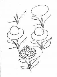 Как нарисовать георгин Фото раскраски цветы