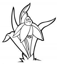 Грусный подснежник Красивые раскраски цветов