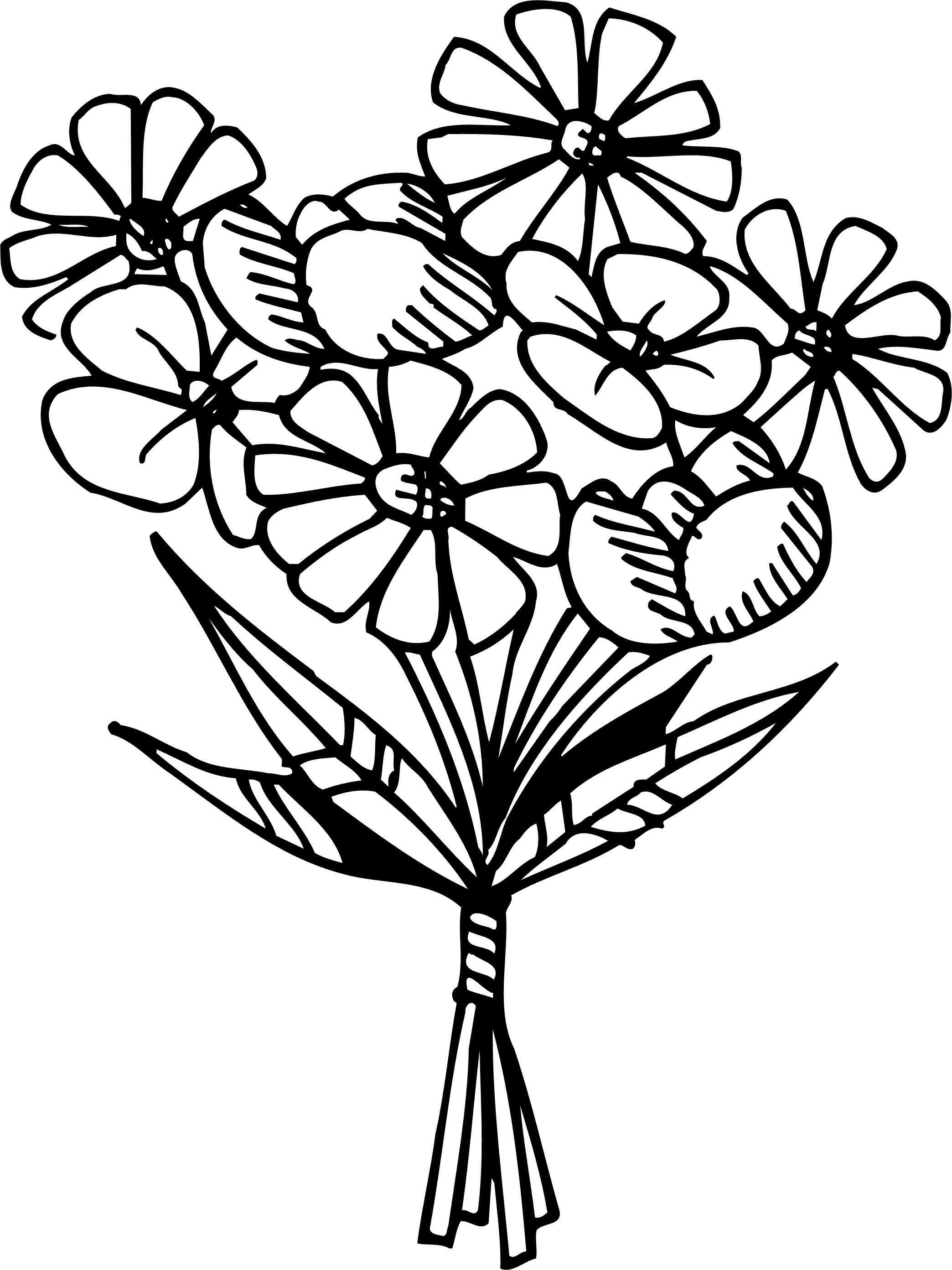 Раскраски цветы на 8 марта распечатать