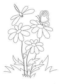 Ромашки Раскраски с цветами распечатать бесплатно