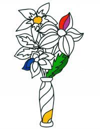 Раскраска. цветы для мамы Раскраски с цветами распечатать бесплатно