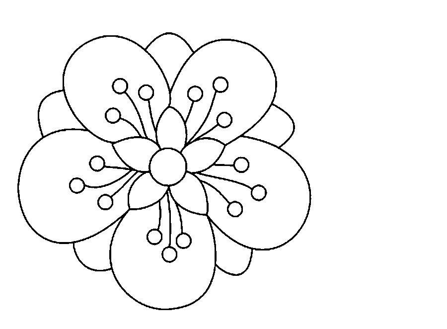 Шаблоны к раскраскам цветочки