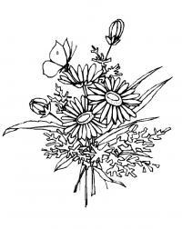 Букет цветов Раскраски картинки цветов