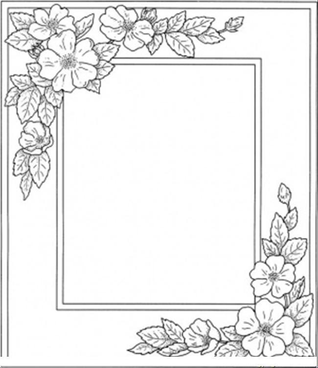 Рамки с цветами Детские цветы распечатать
