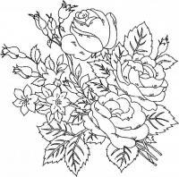 Розочки Раскраска цветок для скачивания