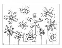 Поле цветов цветы раскраски онлайн бесплатно