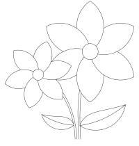 Симпатичные цветочки цветы раскраски онлайн бесплатно
