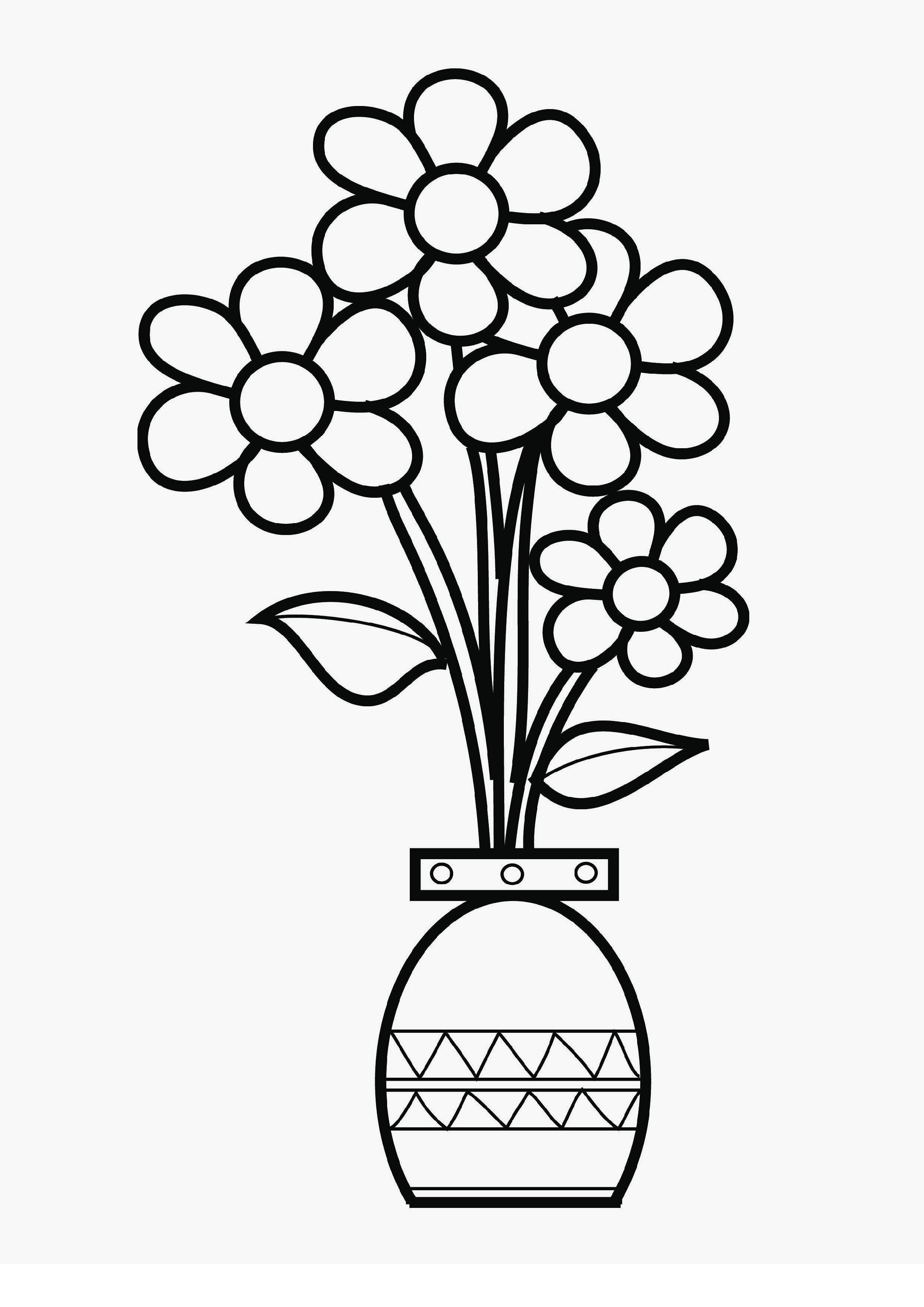 вазы цветами раскраска с рисунок