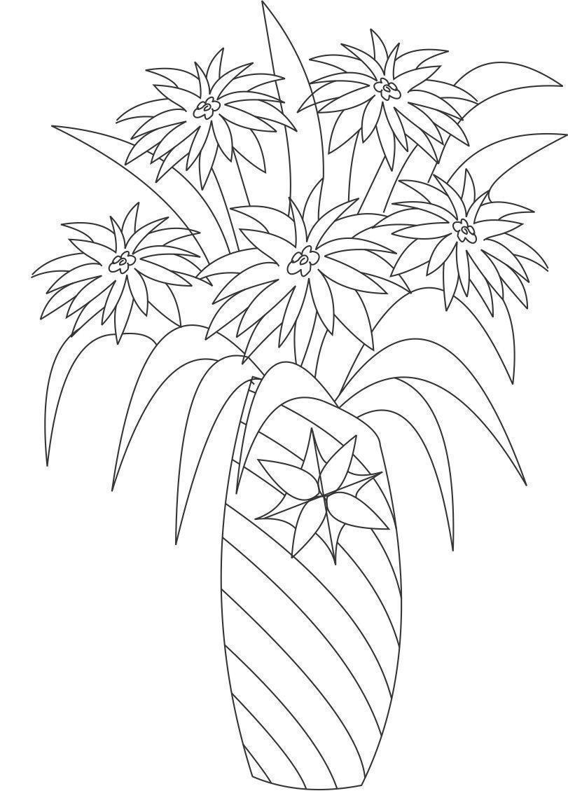 Цветы с острыми лепестками в вазе