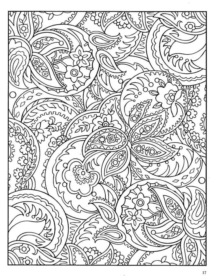 Сложные узоры с цветочным рисунком Черно белые раскраски цветов