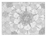 Сложные узоры с цветами Черно белые раскраски цветов