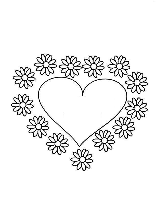 Сердце и цветы ромашки
