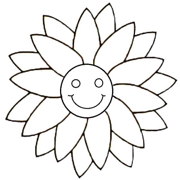 С улыбкой Для детей онлайн раскраски с цветами