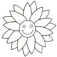 С улыбкой Скачать раскраски с цветами