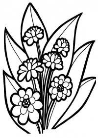 Весенние цветы цветы раскраски онлайн бесплатно