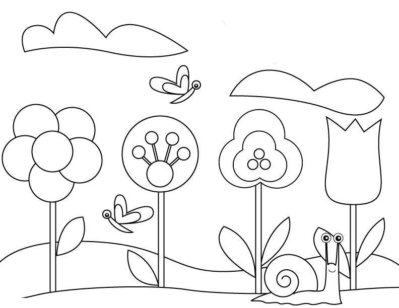 Для мамы Цветы раскраски для детей