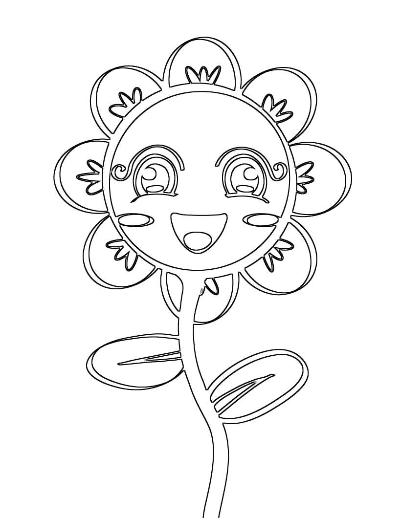 Лепестки цветов, подсолнух с улыбкой для девочек
