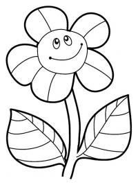 Лепестки цветов с улыбкой Фото раскраски цветы