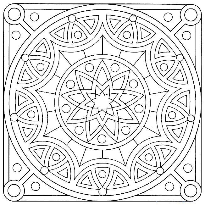 лепестки цветов круглый орнамент