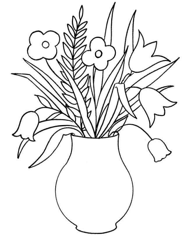 Цветочки в вазе