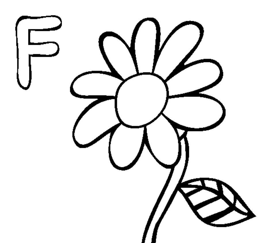 Простой цветок Фото раскраски цветы