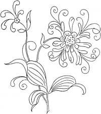 Ажурный цветок Раскраски цветы скачать