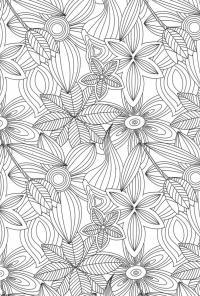 Раскраски антистресс Раскраски с цветами распечатать бесплатно