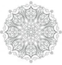 Раскраски антистресс, красивый цветочный узор Раскраски с цветами распечатать бесплатно