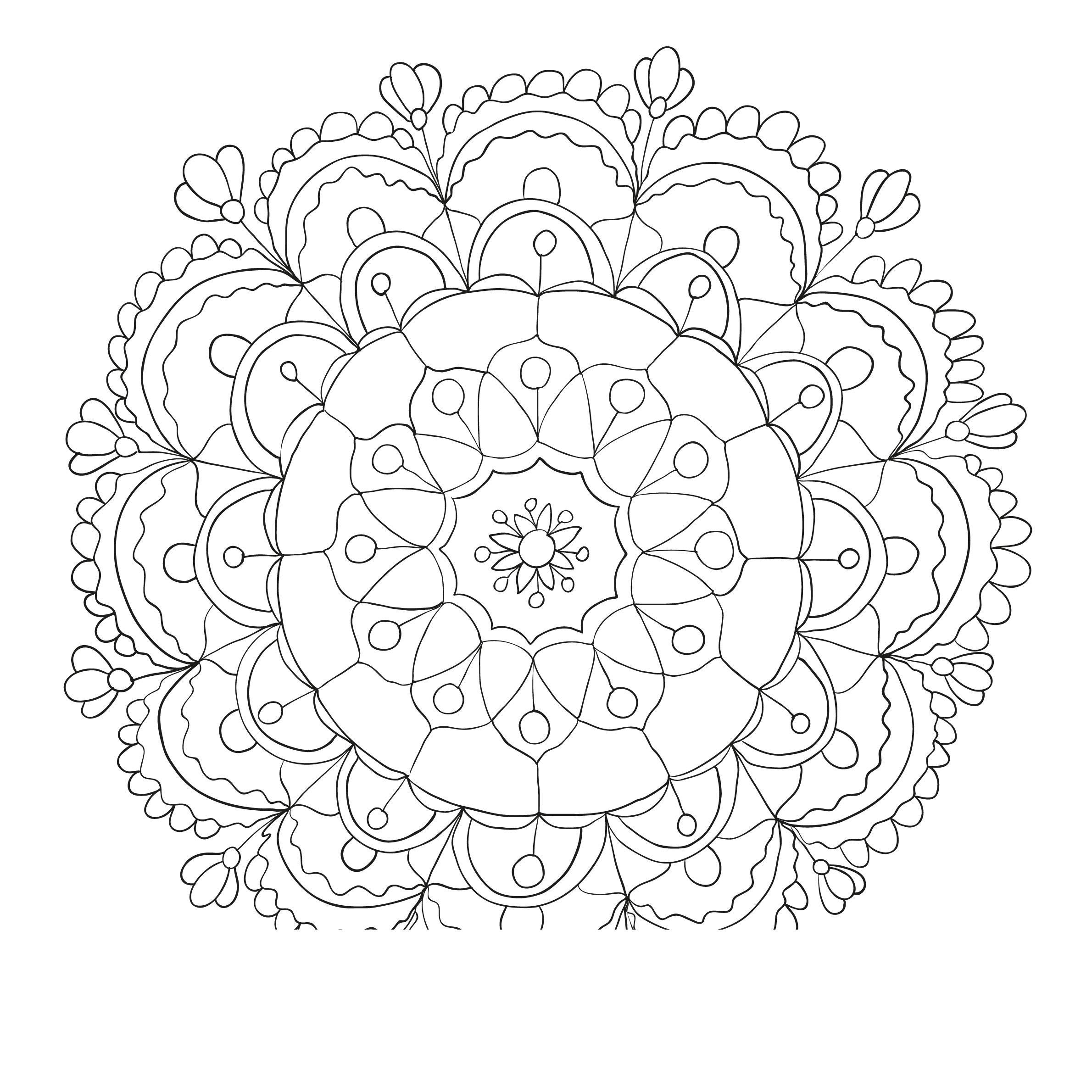 Раскраски антистресс с цветами Раскраски цветы хорошего качества