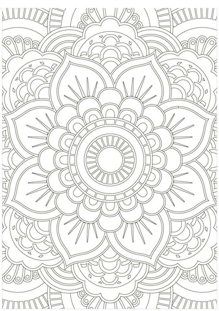 Раскраски антистресс узор подсолнух Раскраски цветы хорошего качества