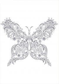 Раскраски антистресс узор бабочка Раскраски цветы хорошего качества