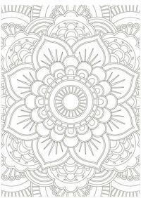 Раскраски антистресс узор подсолнух Раскраски с цветами распечатать бесплатно