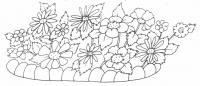 Цветы на клумбе Красивые раскраски цветов