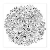 Панно цветы в круге Раскраски с цветами распечатать бесплатно