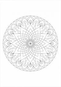 Цветы капельки в круге Разукрашки цветы