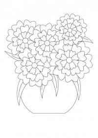 Букет цветов для мамы Раскраски картинки цветов
