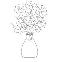 Букет красивых цветов Раскраски с цветами распечатать бесплатно