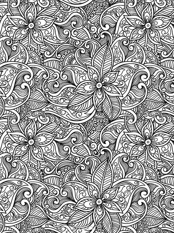 Волшебные цветы Раскраски с цветами распечатать бесплатно