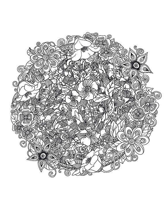 Волшебные цветы Раскраски цветы для девочек